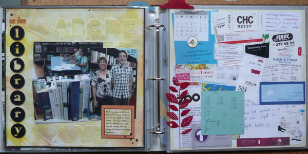 My second layout for January, and on the right the collage to begin February's pages.