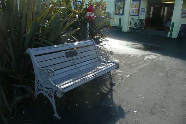 #10  A bench that is outside